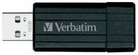 Флеш Диск Verbatim 16GB PinStripe USB Flash Drive - Black