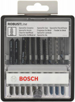 Набор пилок для лобзика Bosch Robust Line 10 (2607010574)