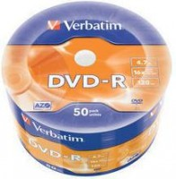 Диск DVD-R Verbatim 4.7Gb 16x Cake Box 50шт (43788)